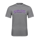 Alcorn Performance Grey Concrete Tee-Arched Alcorn State University