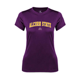 Ladies Syntrel Performance Purple Tee-Arched Alcorn State