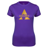 Ladies Syntrel Performance Purple Tee-Alcorn A