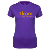 Ladies Syntrel Performance Purple Tee-Alcorn State University