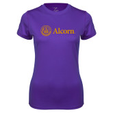 Ladies Syntrel Performance Purple Tee-Alcorn