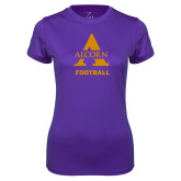 Ladies Syntrel Performance Purple Tee-Alcorn Football