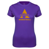 Ladies Syntrel Performance Purple Tee-Alcorn Basketball