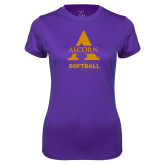Ladies Syntrel Performance Purple Tee-Alcorn Softball