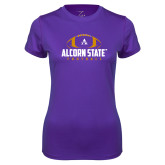 Ladies Syntrel Performance Purple Tee-Alcorn State Football
