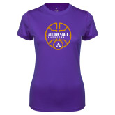 Ladies Syntrel Performance Purple Tee-Alcorn State Basketball