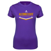 Ladies Syntrel Performance Purple Tee-Alcorn State Softball