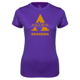 Ladies Syntrel Performance Purple Tee-Alcorn Grandma
