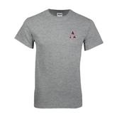 Grey T Shirt-Alcorn Official Logo