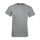 Grey T Shirt-Arched Alcorn State University