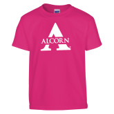 Youth Cyber Pink T Shirt-Alcorn A