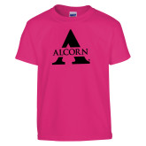 Youth Cyber Pink T Shirt-Alcorn A  Foil