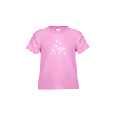 Toddler Pink T Shirt-Alcorn Official Logo