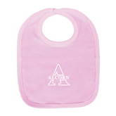 Light Pink Baby Bib-Alcorn Official Logo