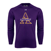 Under Armour Purple Long Sleeve Tech Tee-Alcorn Official Logo
