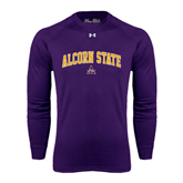 Under Armour Purple Long Sleeve Tech Tee-Arched Alcorn State
