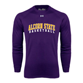 Under Armour Purple Long Sleeve Tech Tee-Basketball