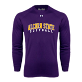 Under Armour Purple Long Sleeve Tech Tee-Softball