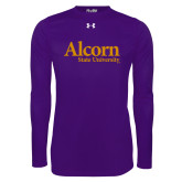 Under Armour Purple Long Sleeve Tech Tee-Alcorn State University