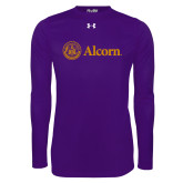 Under Armour Purple Long Sleeve Tech Tee-Alcorn