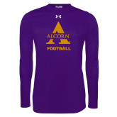 Under Armour Purple Long Sleeve Tech Tee-Alcorn Football