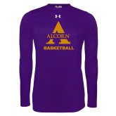 Under Armour Purple Long Sleeve Tech Tee-Alcorn Basketball