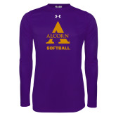 Under Armour Purple Long Sleeve Tech Tee-Alcorn Softball