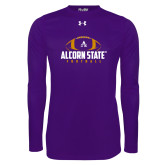 Under Armour Purple Long Sleeve Tech Tee-Alcorn State Football