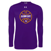 Under Armour Purple Long Sleeve Tech Tee-Alcorn State Basketball