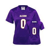 State Ladies Purple Replica Football Jersey-Personalized