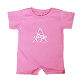 Alcorn Bubble Gum Pink Infant Romper-Alcorn Official Logo