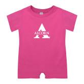 Bubble Gum Pink Infant Romper-Alcorn A