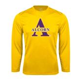 Syntrel Performance Gold Longsleeve Shirt-Alcorn Official Logo