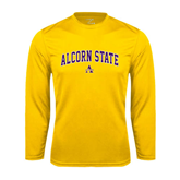 Syntrel Performance Gold Longsleeve Shirt-Arched Alcorn State