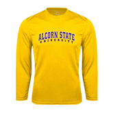 Syntrel Performance Gold Longsleeve Shirt-Arched Alcorn State University
