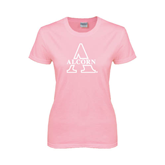 Ladies Pink T-Shirt-Alcorn Official Logo