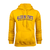Alcorn Gold Fleece Hoodie-Volleyball
