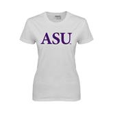 Ladies White T Shirt-ASU