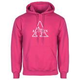 Alcorn Fuchsia Fleece Hoodie-Alcorn Official Logo