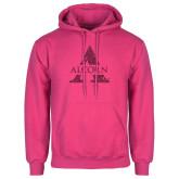 Fuchsia Fleece Hoodie-Alcorn A Glitter Hot Pink Glitter
