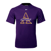 Under Armour Purple Tech Tee-Alcorn Official Logo