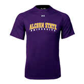 Under Armour Purple Tech Tee-Arched Alcorn State University