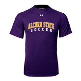 Under Armour Purple Tech Tee-Soccer
