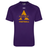Under Armour Purple Tech Tee-Alcorn Football