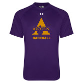 Under Armour Purple Tech Tee-Alcorn Baseball