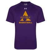 Under Armour Purple Tech Tee-Alcorn Basketball