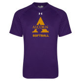 Under Armour Purple Tech Tee-Alcorn Softball