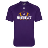 Under Armour Purple Tech Tee-Alcorn State Football