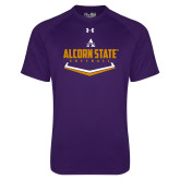 Under Armour Purple Tech Tee-Alcorn State Softball
