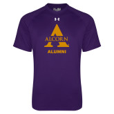 Under Armour Purple Tech Tee-Alcorn Alumni